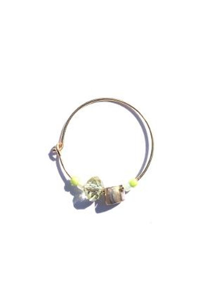 every empress green & champagne crystal medium single hoop