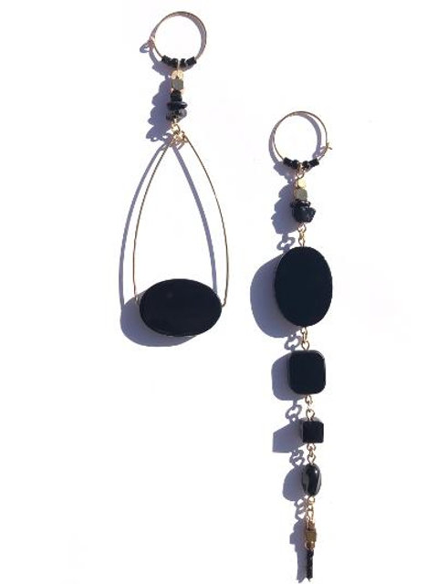 pretty in ink onyx earrings