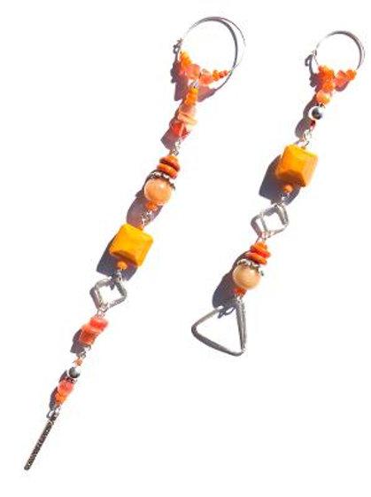 fire in the sky sterling silver, carnelian & orange crystal earrings