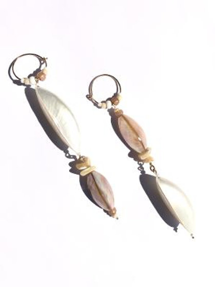 siren of the sea abalone shell & mother of pearl earrings