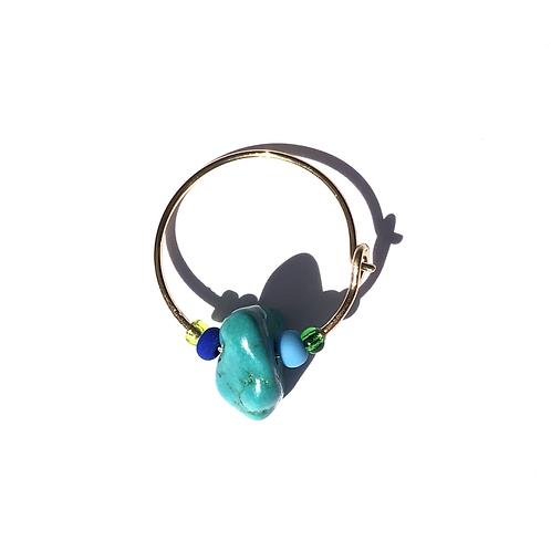 terrifically turquoise mini hoop single estr