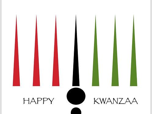 nouveau kinara kwanzaa greeting card