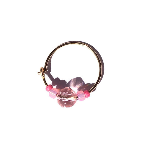 tickle me pink crystal mini hoop