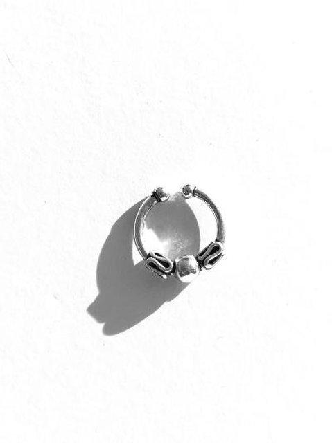 shining light sterling silver faux septum ring