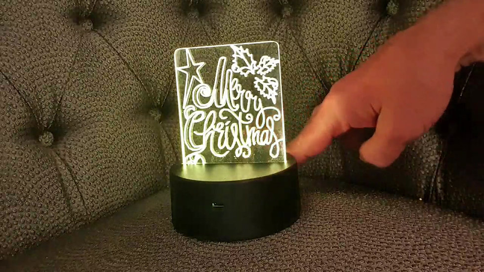Engraved acrylic - Christmas special