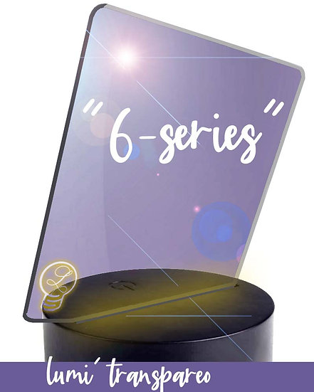 """""""6-series"""" engraved acrylic & LED stand"""