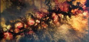 illuminated acrylic on canvas - 92 x 46cm