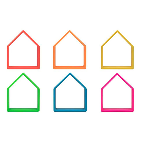 Neon Houses 6 Pack (Assorted Colors)