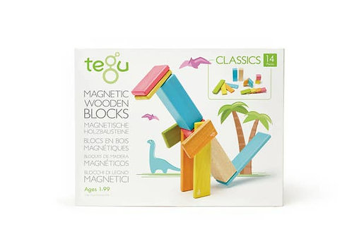 Tegu 14 Piece Magnetic Wooden Block Set