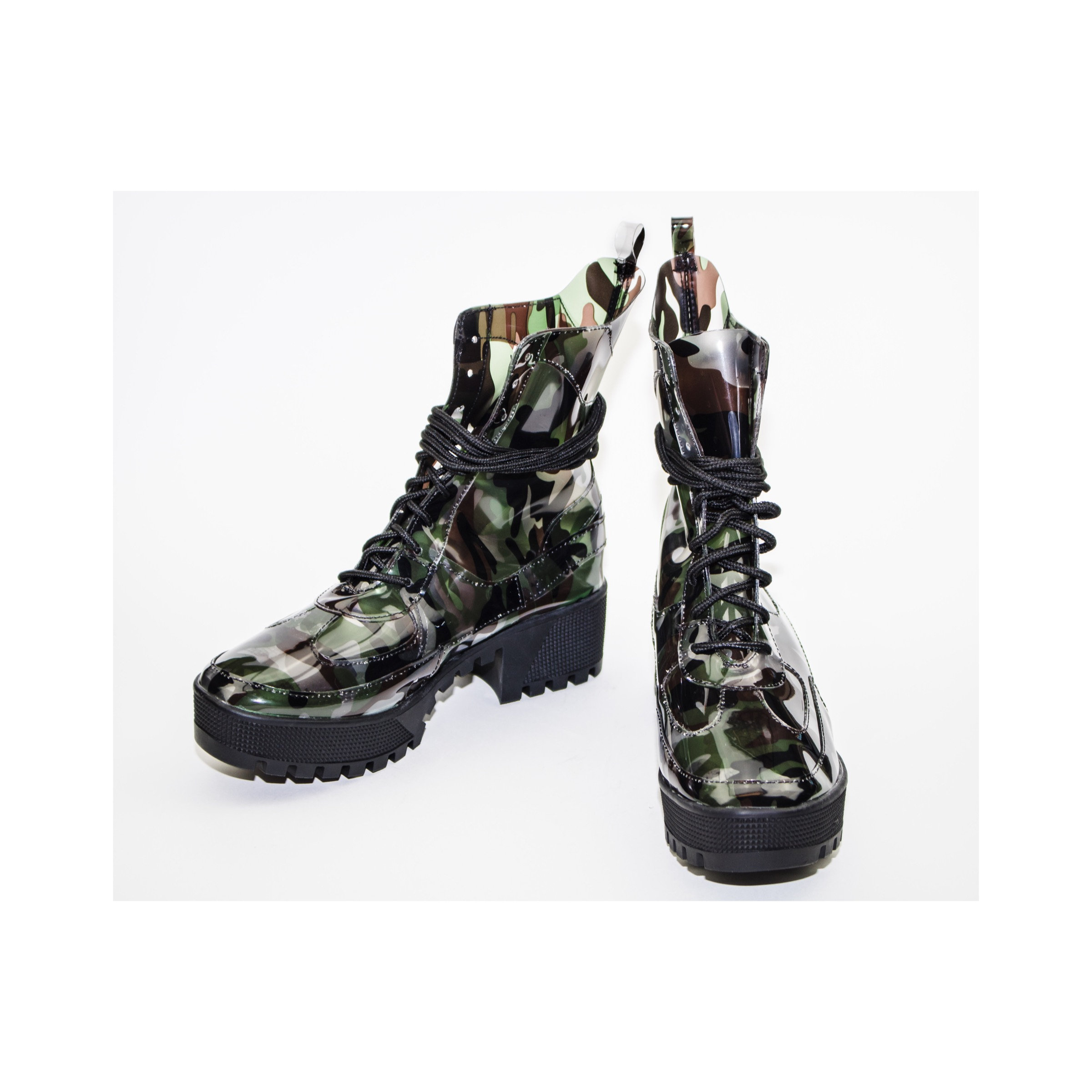 496673aa6 DASHING Lug Sole Combat Boots in Camo | Cape Robbin Official