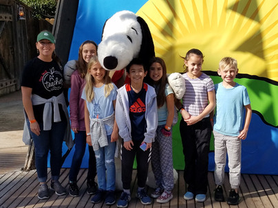 Hanging with Snoopy