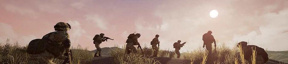 Banner Soilders advancing.jpg