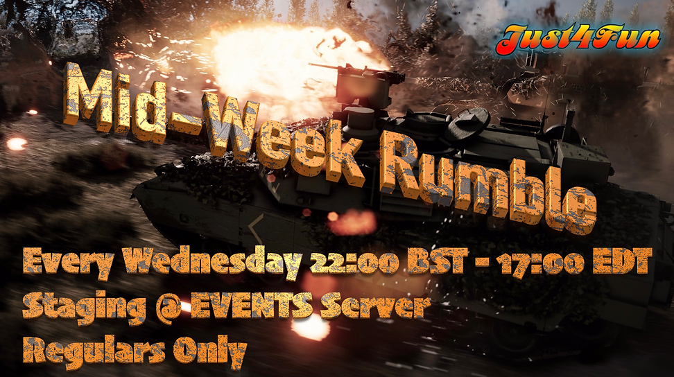 Weekly Rumble graphic 2200 BST 1700 EDT.