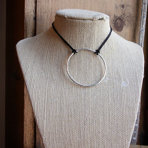Full Moon Necklace on Silk Cord