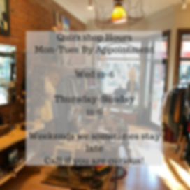 Quirkshop HoursMon-Tues By AppointmentWe