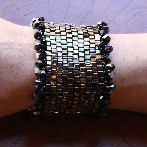 Fancy Beaded Cuff Bracelet