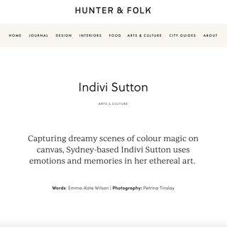 Hunter and Folk Article