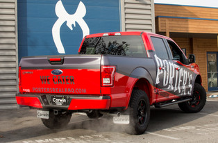 Partial Truck Wrap & Spot Graphics
