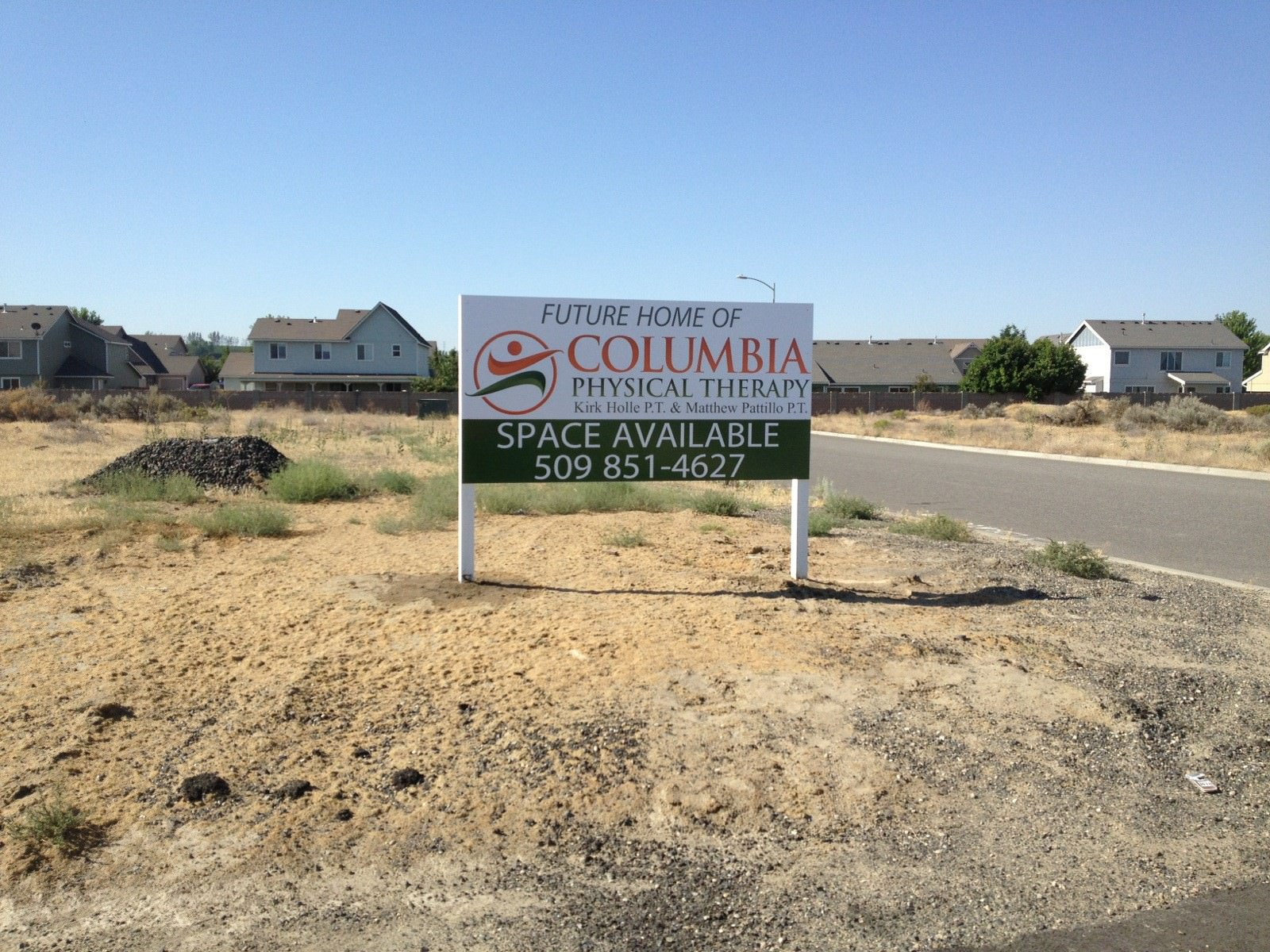 Columbia Physical Therapy Development Site Sign