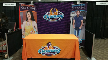 Tradeshow Backdrop & Tablecloth & Retractable Banners
