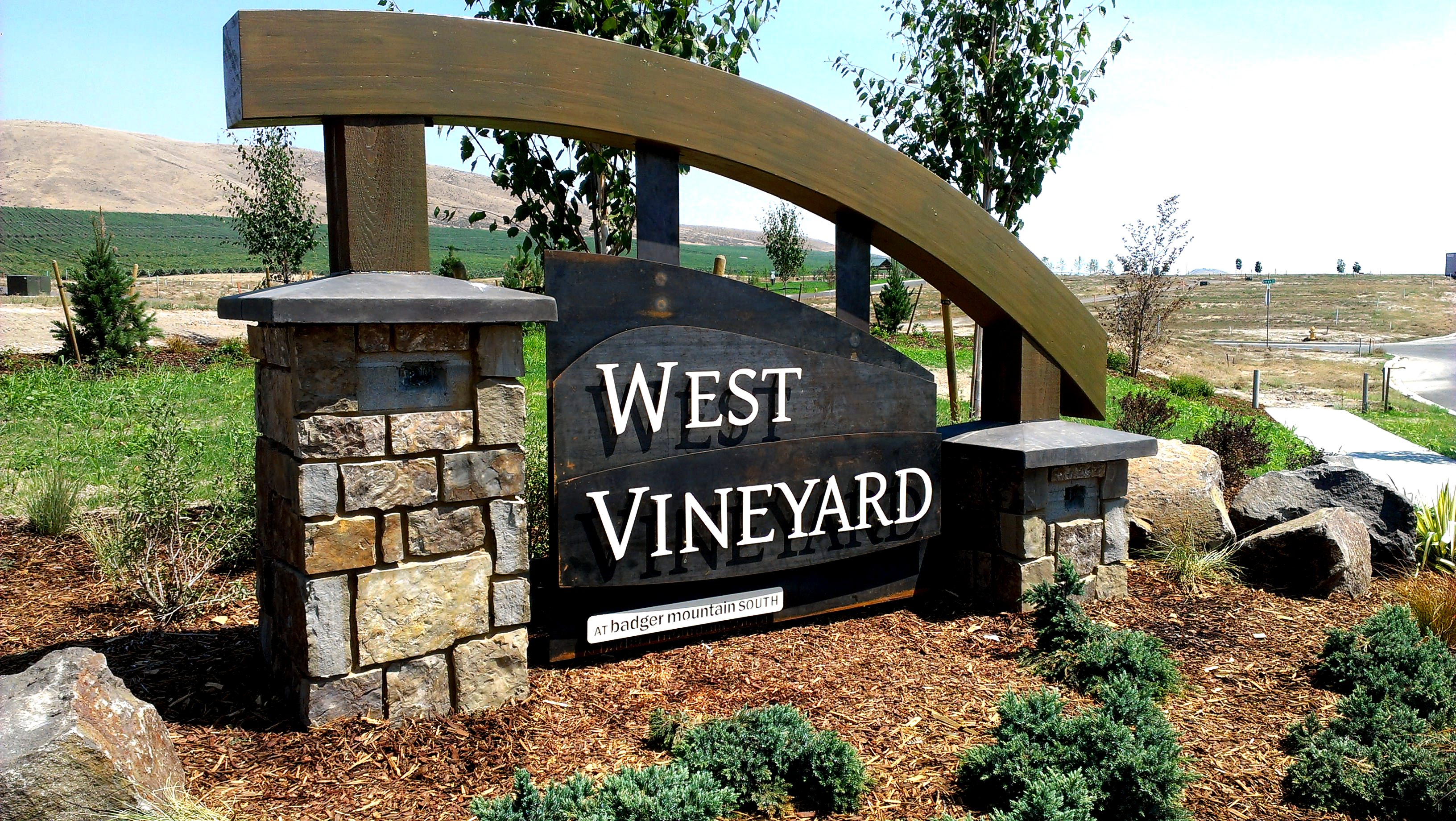 West Vineyard Monument Sign