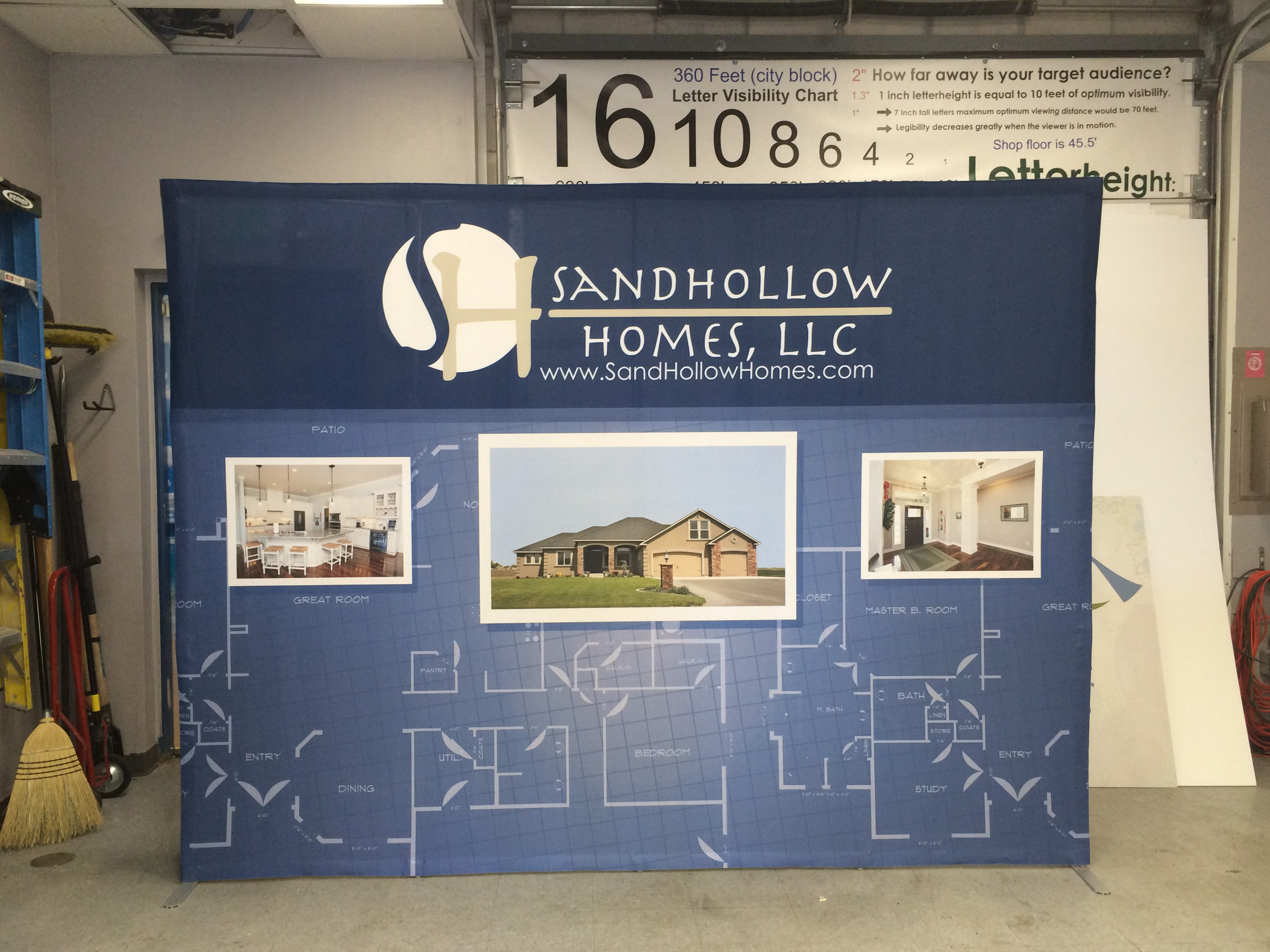 Sandhollow Homes Pop Up Display