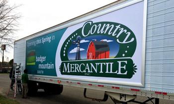 Metal Frame Truck Banner