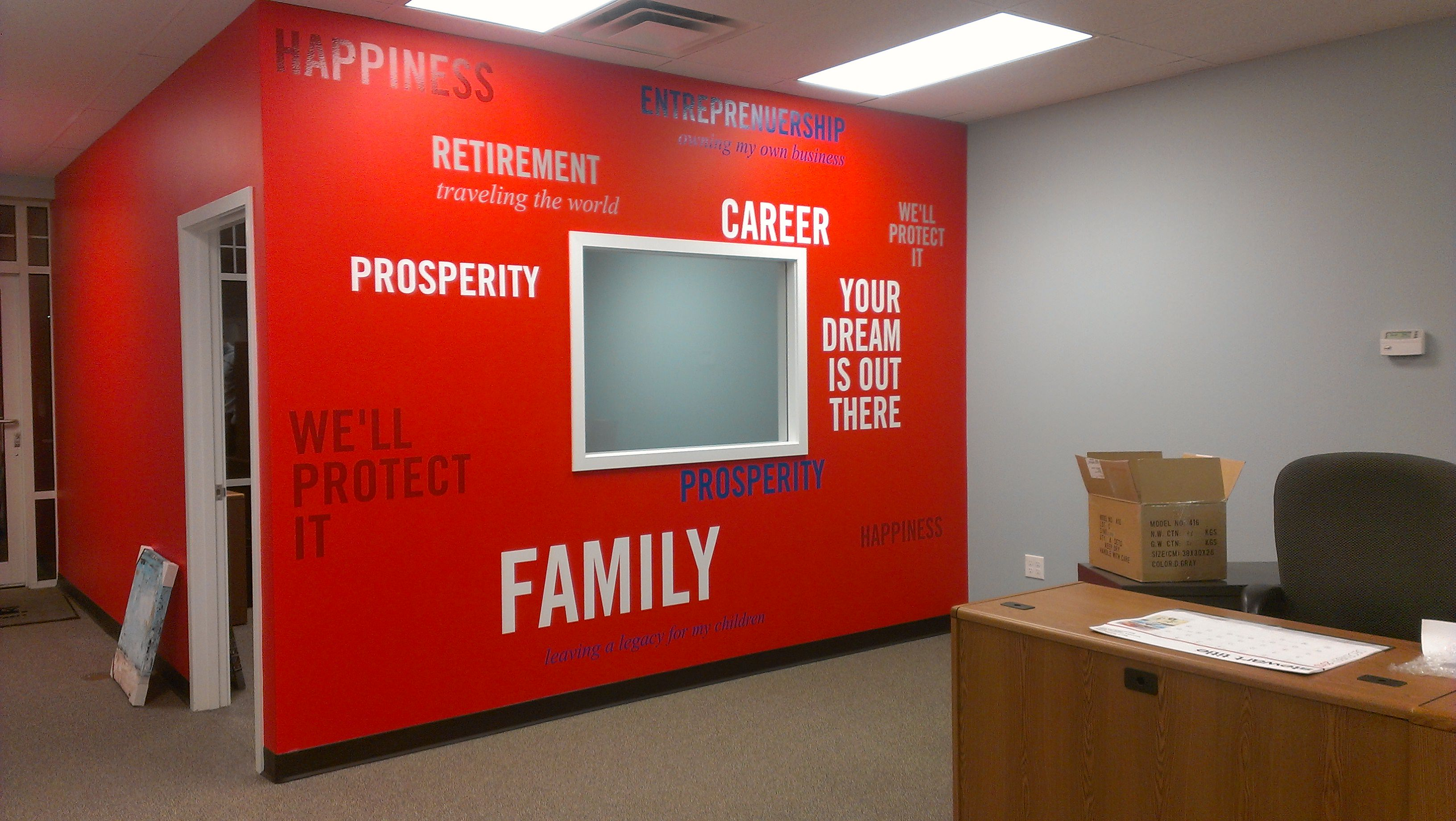 American Family Insurance Word Wall Vinyl