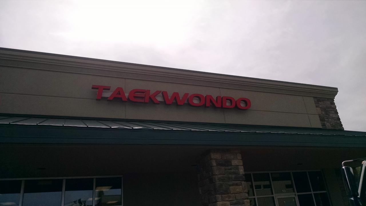 Taekwondo Channel Letters