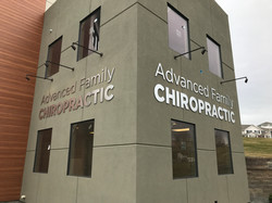 Advanced Fam Chiro - building sign 2