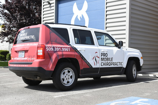 Partial SUV Wrap with Perforation & Spot Graphics