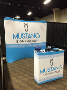 Tradeshow Backdrop and Stretch Table Wrap