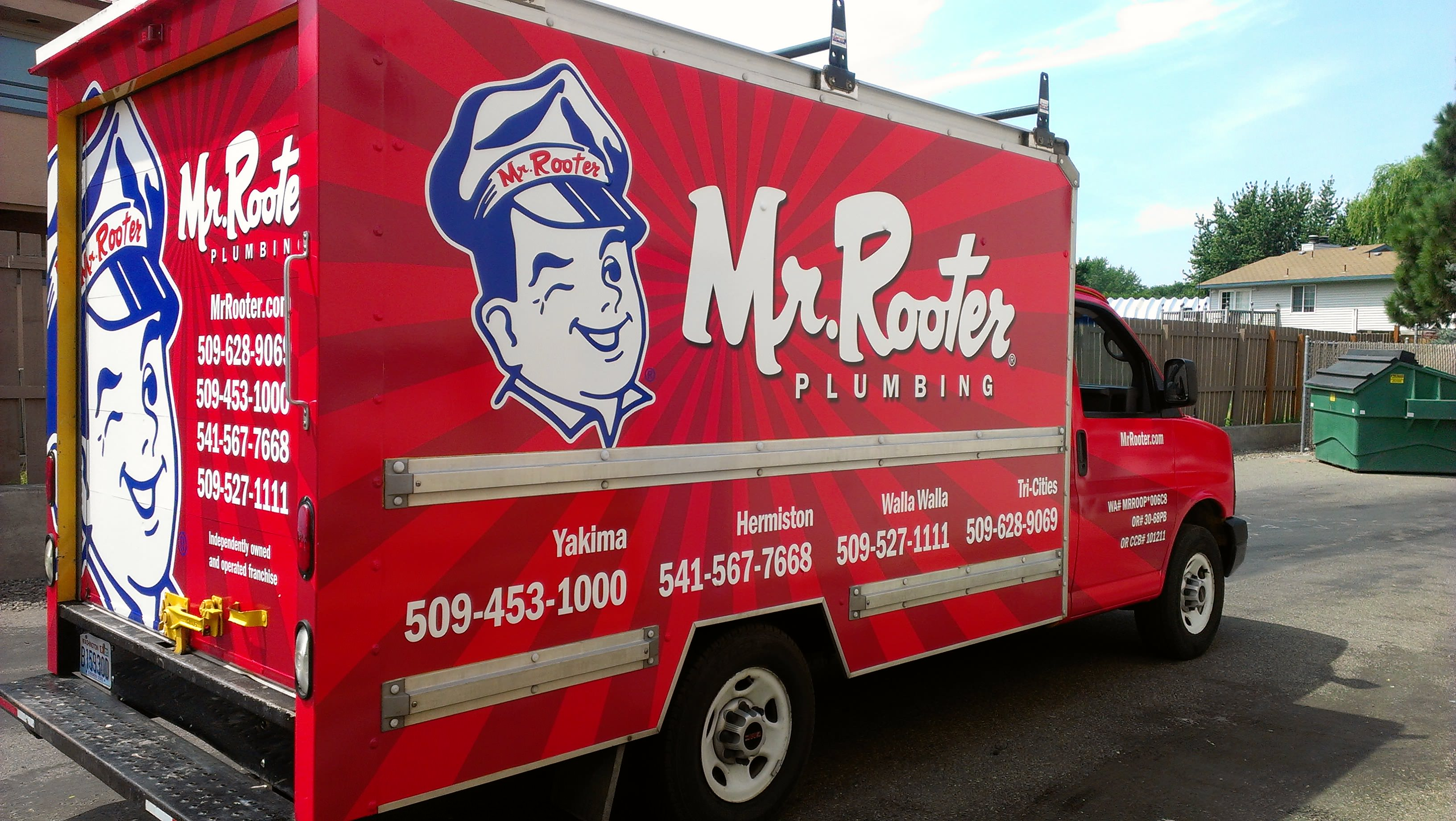 Mr Rooter Box Truck Wrap 2