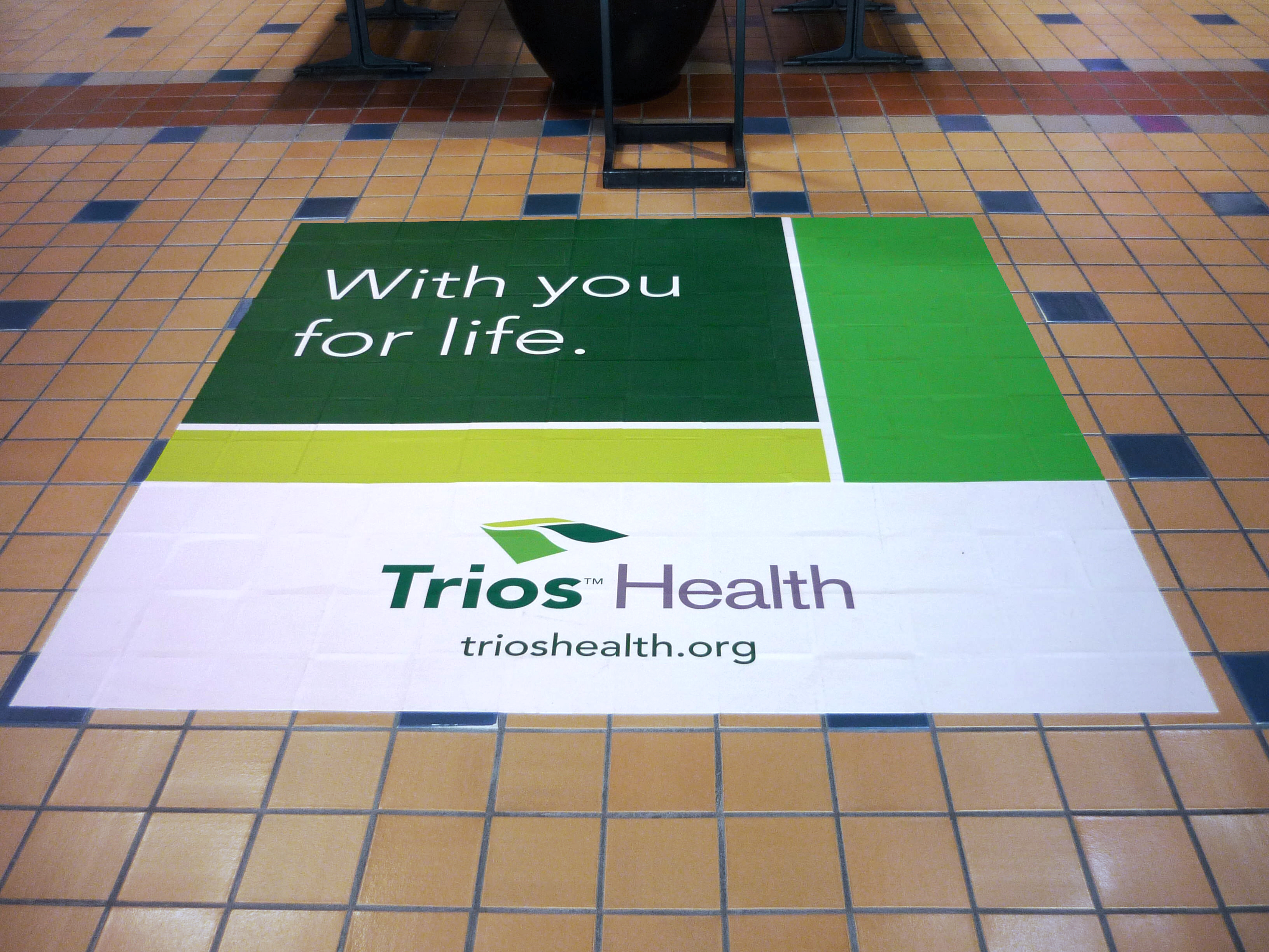 Trios Health Floor Graphics