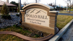 Apollo Hall Monument SIgn 3