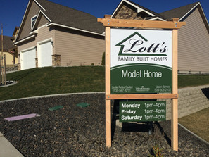 Model Home Yard Sign