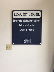 Dimensional Acrylic Wall Mounted Sign
