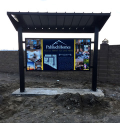 Covered Monument Sign