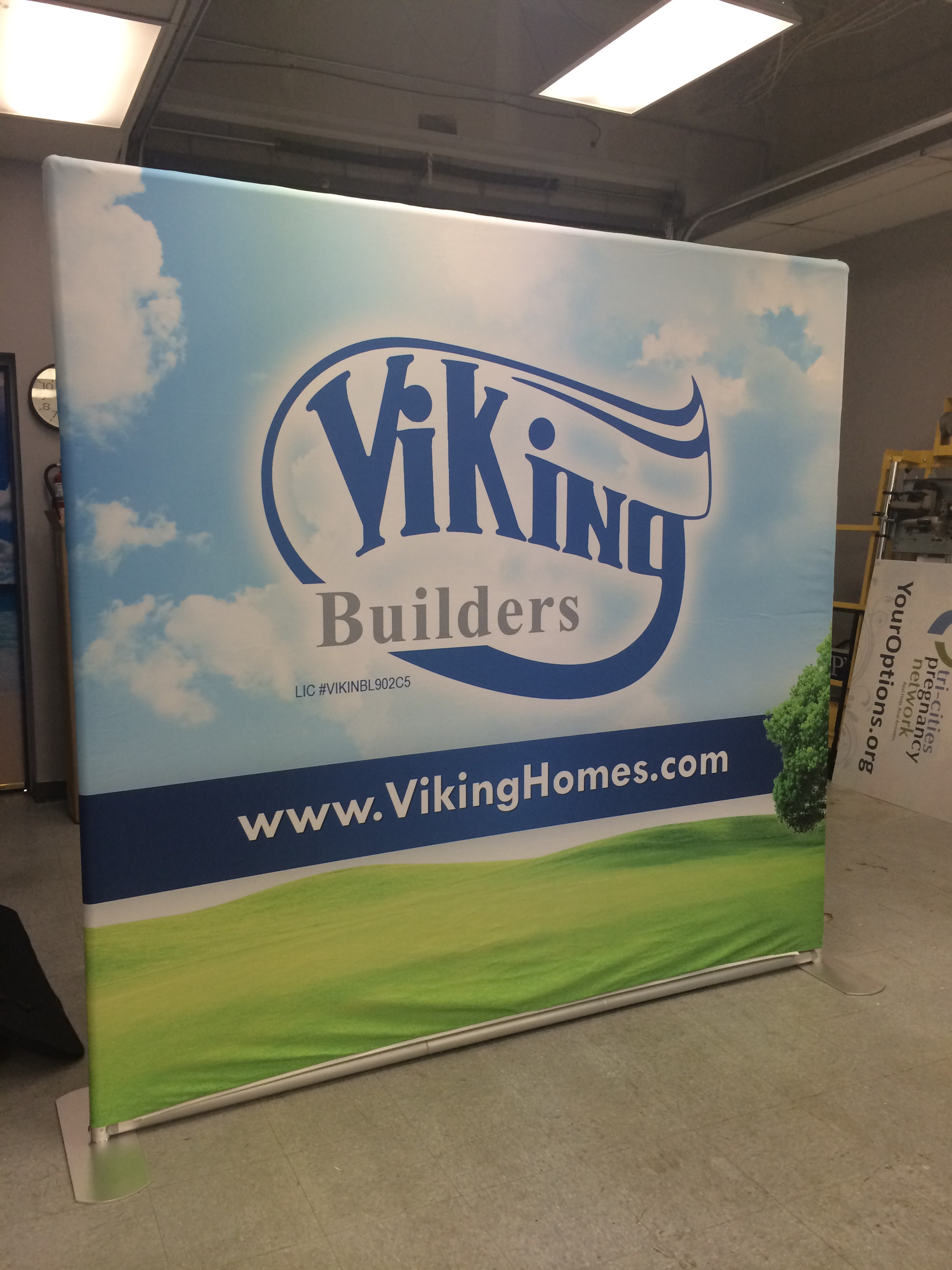 Viking Tradeshow Pop Up Display
