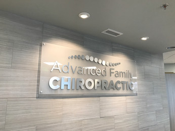 Aluminum and Acrylic Dimensional Wall Mounted Sign