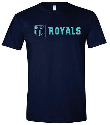 Navy T-shirt - Teal Logo