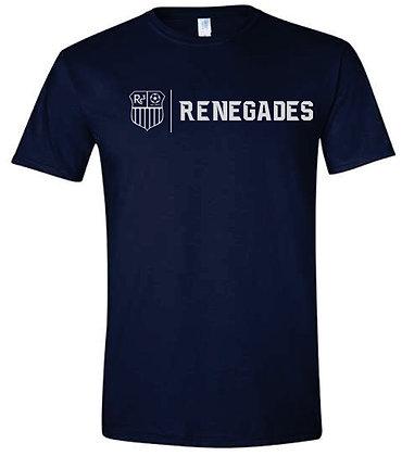 Navy T-shirt - White Logo