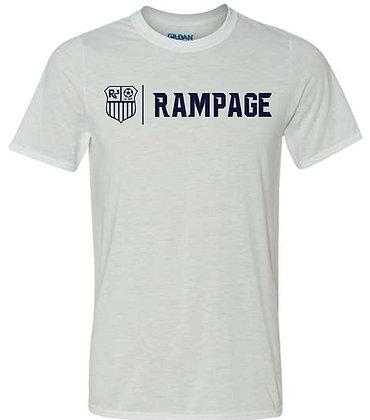 White T-shirt - Navy Logo