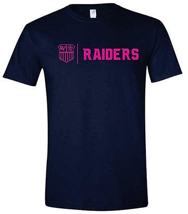 Navy T-shirt - Pink Logo