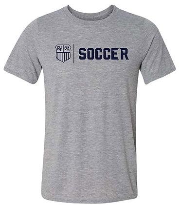 Gray T-shirt - Navy Logo