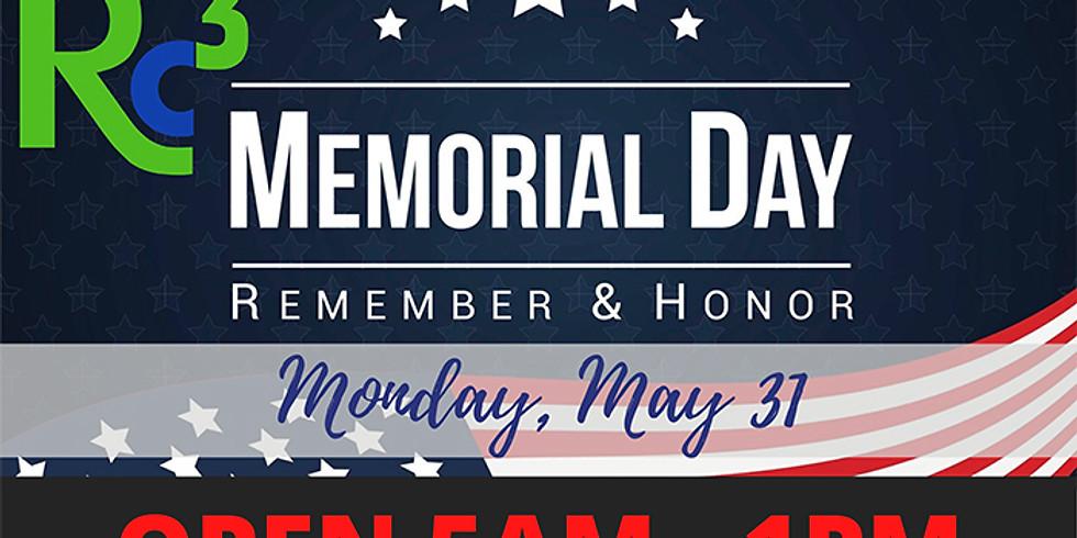 Memorial Day at RC3 - Monday,  May 31st