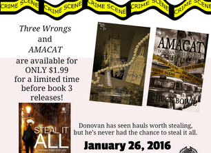Steal It All's Author Chuck Bowie Spills About Writing Thrillers February 27, 2016 by janiefranz   S
