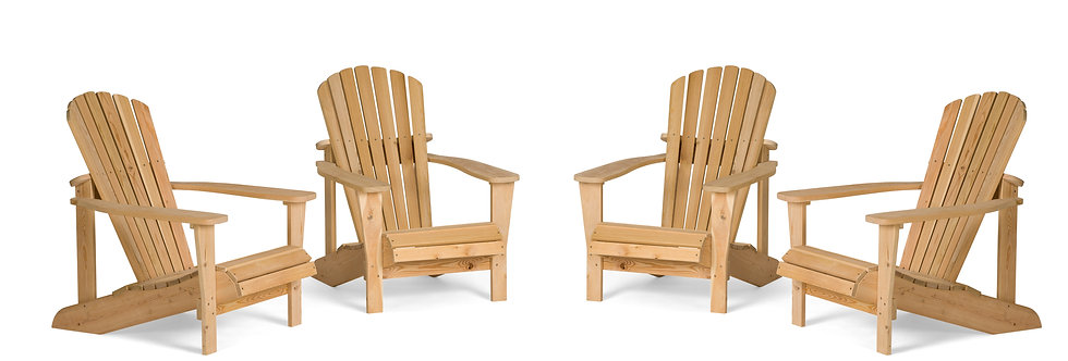 Four Adirondack Chairs with Two Coffee Tables