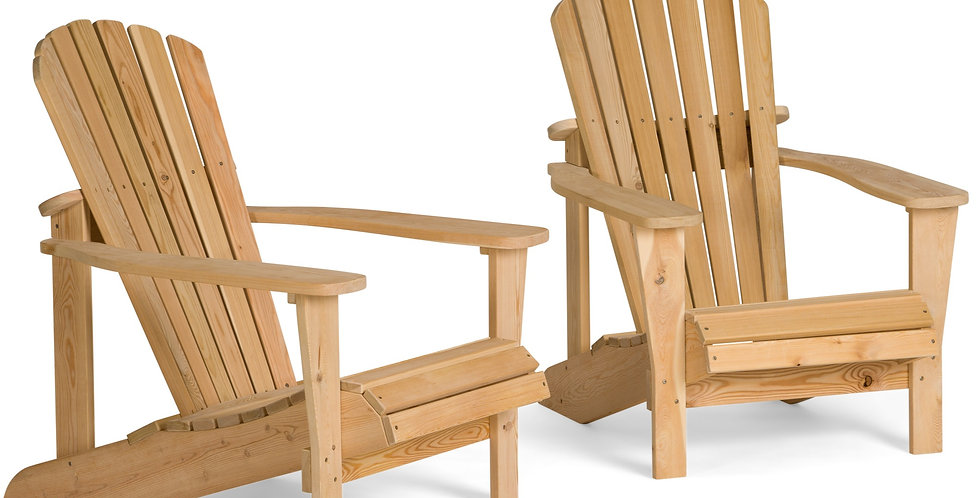 Two Adirondack Chairs with Coffee Table