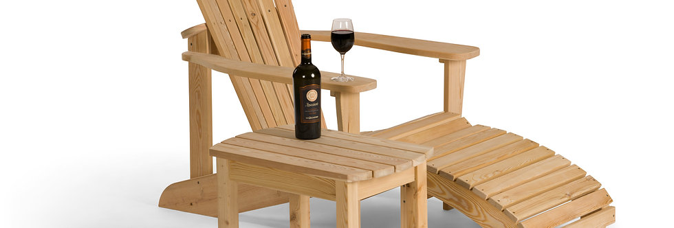 Adirondack Chair with Footrest and Coffee Table